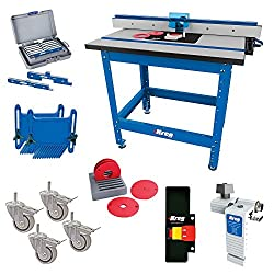 Kreg router table review woodworking tool guide the kreg prs1045 is a rolling table shop stand with integrated router table top it would best be described as a cabinet style router table keyboard keysfo Images