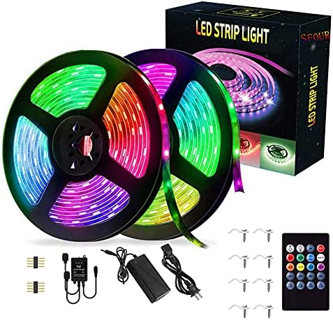 SFOUR LED Strip Lights Waterproof Max 62% OFF 32.8FT Music Sync 10M Selling and selling 20Key