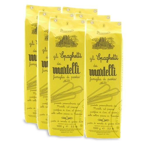 Martelli Spaghetti Nudeln, 6 x 1.000g - Sparpaket