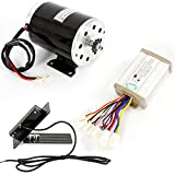 Black 1000W 48V DC Electric Motor w/Base Speed Controller Foot Pedal Throttle Scooter 1020 Kit
