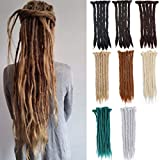 20 inch Full Head Colorful Synthetic Dreadlock Hair Extension for Women and Men Fashion Style Cool Reggae Hair Soft Long Hairpieces