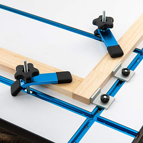 POWERTEC 71362 Universal Stop Kit for T-Track System w/Parallel | Perpendicular Stops - 4PK