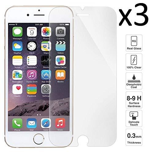 iGlobalmarket [Pack Ahorro - 3 Unidades] Protector de Pantalla iPhone 7 Plus / 7s Plus / 8 Plus, Vidrio Templado, sin Burbujas, Alta Definicion, 9H Dureza, Resistente a Arañazos