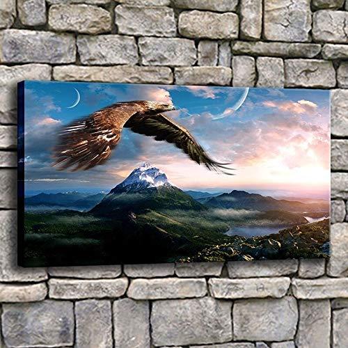 40x55cm Geen frame 1 stuk Adelaar die in de lucht vliegt over bergen Landschap Pop Panoramisch beeld abstract modern chique decoratie mooie decoratie Exclusieve muurschildering moderne fotografie voor uw muur in vele maten