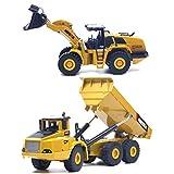 Zeyujie Puede empujar manualmente el modelo deslizante y de alta calidad.1/50 Escala de construcción vehículo camión volquete mecánico cargador de aleación modelo construcción modelo construcción coch