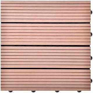 SIENOC Suelos de WPC DIY Azulejos de madera compuesto plástico al aire libre contra la corrosión