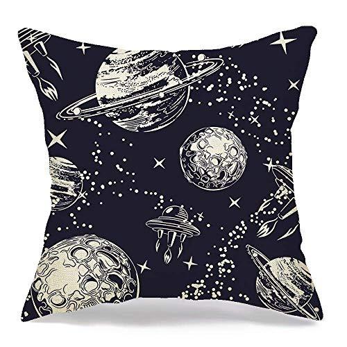 N\A Housse de Coussin décoratif en Lin Shuttle Planet...