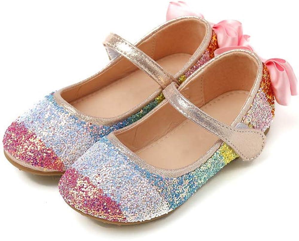 Ozkiz 'Aurora Pop' Mary Jane Shoes for Girls_Rainbow Colors, US Size 8 Toddler ~ 1.5 Little Kid