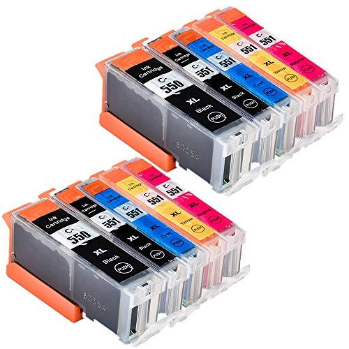 abcs Printing sostituzione per Canon PGI-550X L CLI-551X L-Cartucce d' inchiostro per Canon PIXMA ip7250ip8750MG5450MX725mx925Canon PIXMA MG6450/MG6450/ix6850/MG6450 2PGBK, 2BK, 2C, 2M, 2Y