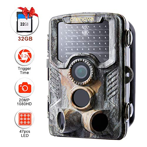 Crenova  20MP 1080P HD Wildlife Hunting Trail Camera Include 32GB SD Card...