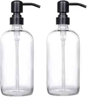 2 Pack Soap and Lotion Dispenser Matte Black