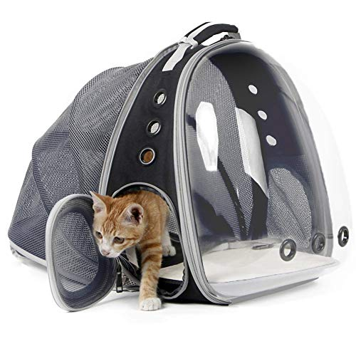 Cat Cave Cat Expandable Carrier Backpack -Expandable Back Panel To Give More Room And Play Time At Outdoor Activity,ZhongXianShangMaoYouXianGongSi (Color : Upgraded expandable)