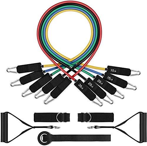 Boxx Fasce di Resistenza di Esercitazione Set 10 PCS apparecchiatura Domestica di Ginnastica for Uomo e Donna Allenamento Funzionale Fasce Fitness Resistenza Set Porta Anchor System Set Allenamento