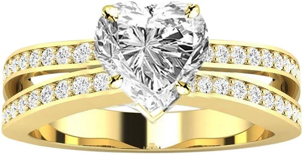 1.5 Finally resale start Ctw Dallas Mall 14K White Gold Contemporary Row GIA C Shank Double Split