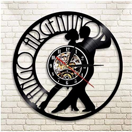 GVSPMOND Reloj de Pared Dancing Couple Classic Creative Vinyl Retro CD Record Reloj de Pared Bar Moderno Decoración del hogar Regalo 12 Pulgadas