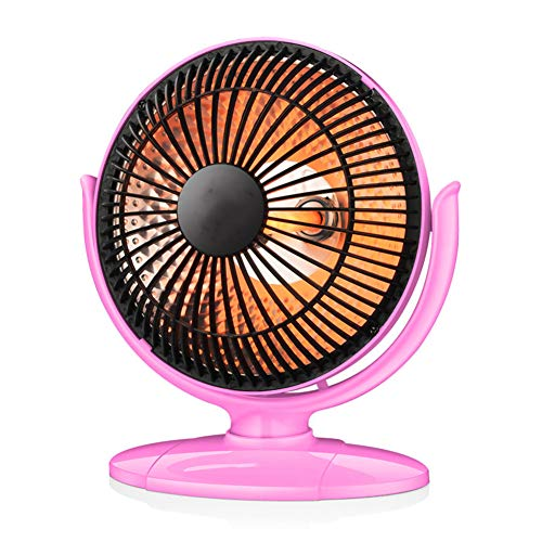 200W Portable Mini Plug-In Heater Personal Heater Suitable for Bathroom, Desktop Office, Ultra Quiet/High Power,Pink
