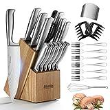 Knife Set,Richlin High Carbon Stainless Steel Damascus Kitchen Knives...