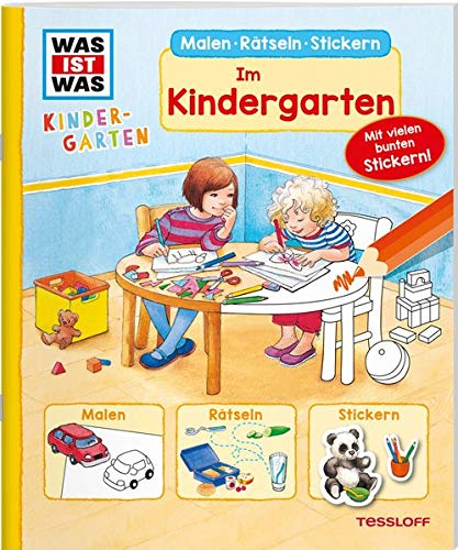 WAS IST WAS Kindergarten Malen Rätseln Stickern Im Kindergarten: Malen, Rätseln, Stickern