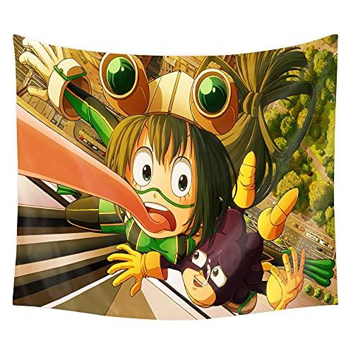 TTKAIDAN Tapiz de anime My Hero Academia para colgar en la pared, decoración para dormitorio, póster de dibujos animados, tema de fiesta de cumpleaños y decoración de camping al aire libre