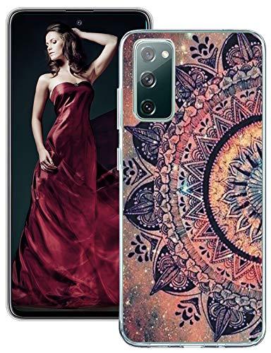 Galaxy S20 Lite / S20 FE Hülle Kompatibel mit Samsung Galaxy S20 Lite Hülle Silikon TPU Glitzer Transparent Marmor Blumen Muster Motiv Handyhülle Durchsichtige Dünn Schutzhülle Galaxy S20 Lite Tasche
