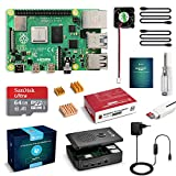 LABISTS Raspberry Pi 4 Model B 4GB RAM Starter Kit, RPi Barebone con MicroSD 64GB, Tipo C...