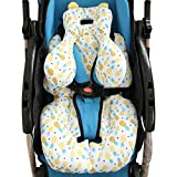 AIPINQI Head and Body Support Pillow with Neck Support for Baby Car Seat and Strollers, Pi...
