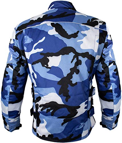 Herren Motorrad Textil Jacke Motorradjacke Winddicht Wasserdicht Belüftet Camo Camouflage (4XL) - 4