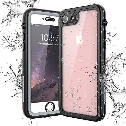 Yokata Hülle für iPhone SE 2020/7/8, IP68 wasserdichte Hülle Transparent 360 Grad Stoßfest mit Eingebautem Displayschutz Staubdicht Handyhülle Schutzhülle Unterwasser Outdoor (4,7 Zoll)