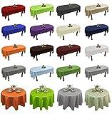 Tischdecke abwaschbar Tischläufer Gartentischdecke Leinen Optik Rechteckig Rund (Hellgrün, 160 cm Rund)
