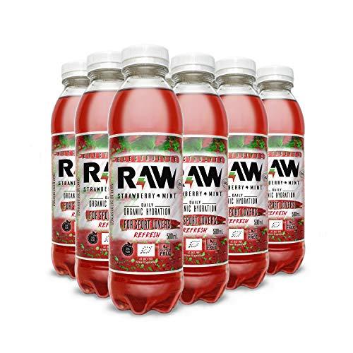 Bebida Isotónica Raw Super Drink Fresa Menta 500 ml (Pack 12)