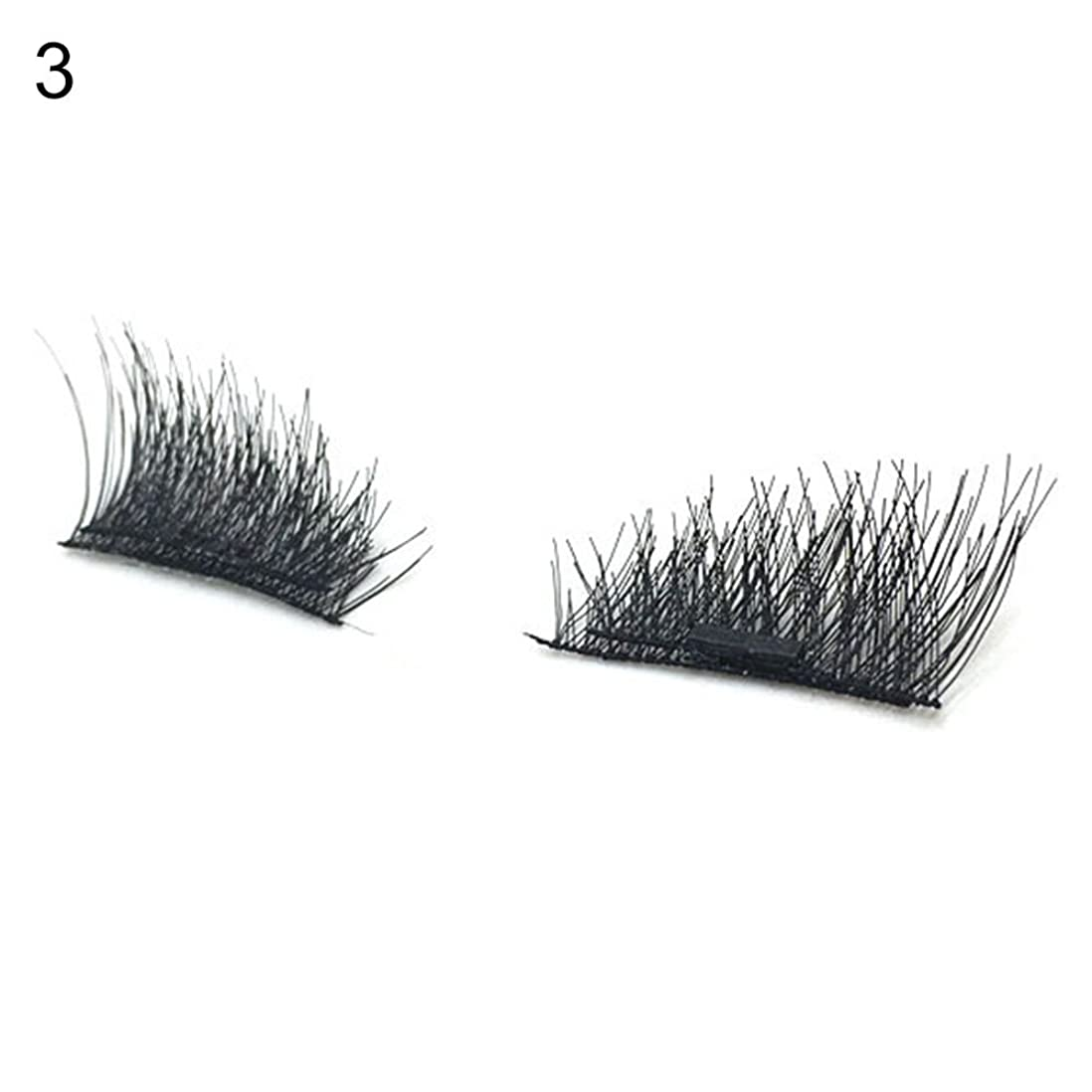 起きて始まり和hamulekfae-磁気磁石3D美容高級 超軽量ピュアナチュラル付けまつ毛1ペア3#
