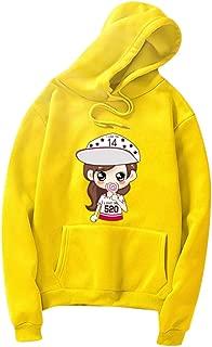 Holzkary Women Hoodies-Tops Cute Printed Sweatshirt Long Sleeve Drawstring Pullover Blouse with Pocket