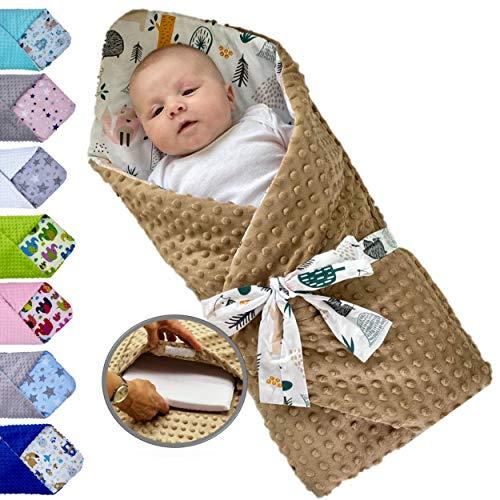 Saco de dormir para bebé acolchado y reversible, desde el nacimiento, nido de ángel muy suave, invierno, verano, Multiusos, cama, cochecito, manta, algodón y tejido minky suave