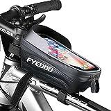Fahrrad Rahmentasche Wasserdicht Fahrradtasche Lenkertasche Handyhalterung Handyhalter Handytasche für Smartphone unter 6,7 Zoll