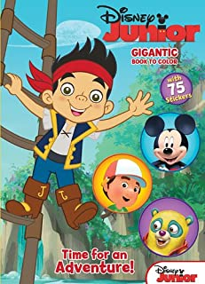 Disney Junior Jake & the Never Land Pirates: Time for an Adventure!: Gigantic Book to Color with Stickers
