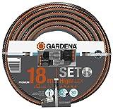 Gardena Comfort Highflex-Manguera (10 x 10, 13 mm, 18 m), Negro, Gris, Naranja, Plateado, metálico
