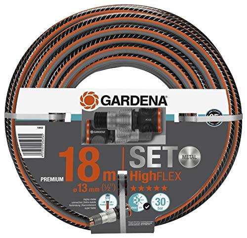 """Gardena Comfort HighFLEX Schlauch 10x10 13 mm (1/2""""), 18 m m. A, schwarzgrauorangesilbermetallic"""