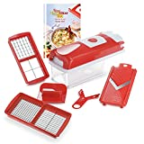 Genius Nicer Dicer Smart | 6 pezzi | Food chopper | Multi-Cutter | Slicing | Grating | Dicing | Fruit + mandolino Vegetable | NEW