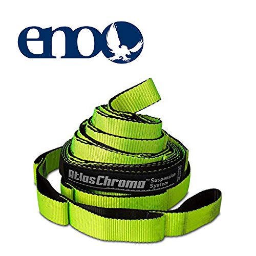 ENO, Eagles Nest Outfitters Atlas Chroma Hammock Straps, Suspension System, Neon/Black