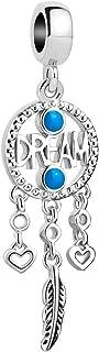 Q&Locket Dream Catcher Charms Dangle Charm Beads for Bracelets