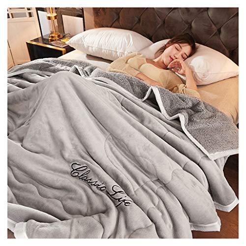 Winter Warm Nap Blanket dikke enkele Lamm Cashmere dubbele quilt-sjaal 150 * 200cm Little