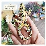 Imán de refrigerador 3D Español República Dominicana Turismo Turismo Lagarto Gecko Imanes De Frigorífico Iman De Frigorífico Para Decoración Del Hogar (Color : D)
