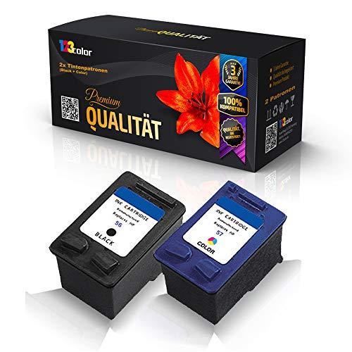 123Color Cartuchos de tinta alternativos compatibles con HP SA342AE HP56 HP57 PhotoSmart 7960GP PSC1100 Series PSC1110 PSC1110V PSC1110XI