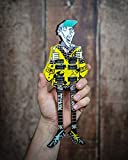 Fan Merch Rick Nielsen Uncle Dick Doubleneck Mini Guitar Replica Collectible - Officially Licensed