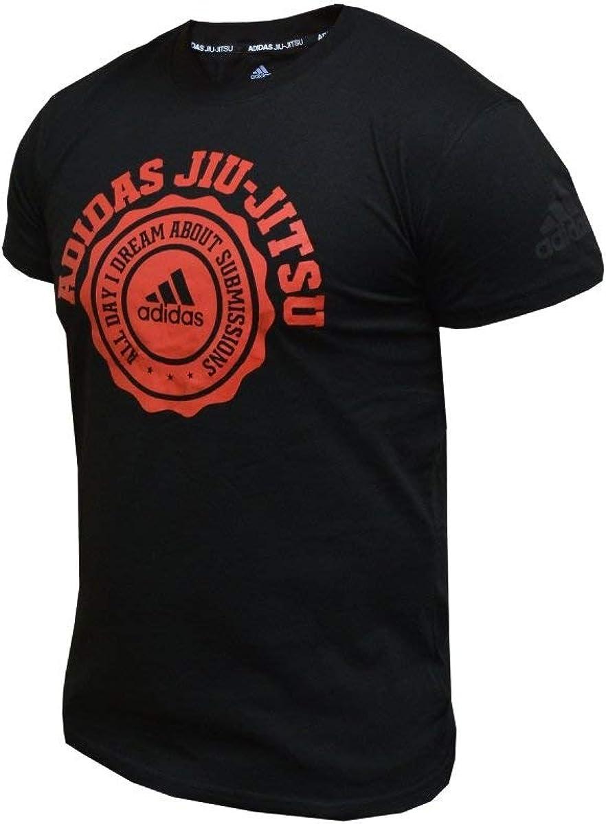 adidas BJJ Ranking TOP11 Topics on TV Jiu Jitsu Cotton Shirts Tee 100%