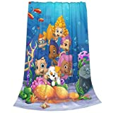 Anime Cartoon Blanket,Cute Bubble Guppies Flannel Fleece Throw Blanket 50'x40' Living Room/Bedroom/Sofa Couch Warm Soft Bed Blanket for Kids Adults All Season