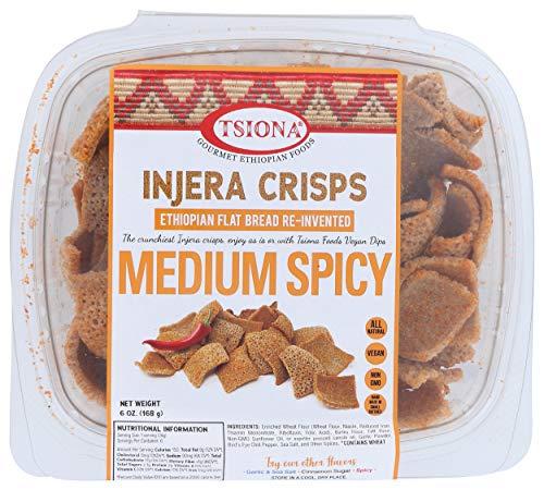 Tsiona Foods, Crisp Injera Medium Spicy, 6 Ounce
