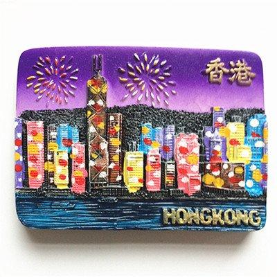 Jian Ai - Imán de nevera en 3D, polirresina Disney, recuerdo turístico de Hong Kong, regalo promocional, decoración creativa para el hogar o cocina