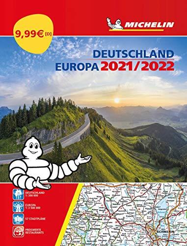 Michelin Straßenatlas Deutschland & Europa 2021/2022: Autobild Testsieger 2019 / Straßenkarte 1:300.000 (MICHELIN Atlanten)