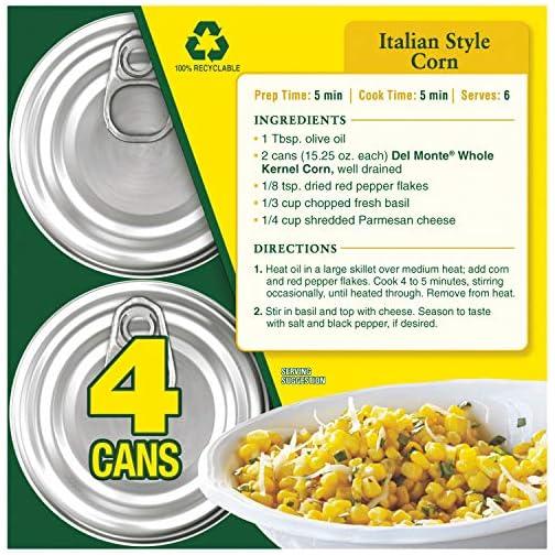 Del Monte Canned Fresh Cut Golden Sweet Whole Kernel Corn, 15.25 Ounce 5